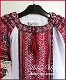 Дитяча туніка вишита, блуза з бавовняним мереживом на замовлення - 104 р., фото 6