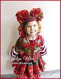 Дитяча вишита туніка, блуза з бавовняним мереживом на замовлення - 110 р., фото 4