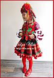 Дитяча вишита туніка, блуза з бавовняним мереживом на замовлення - 122 р., фото 2