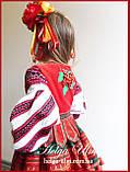 Дитяча вишита туніка, блуза з бавовняним мереживом на замовлення - 128 р., фото 3