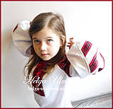 Дитяча вишита туніка, блуза з бавовняним мереживом на замовлення - 128 р., фото 5