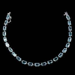 Браслет из серебра с небесным топазом, серебро 925, 210БТ