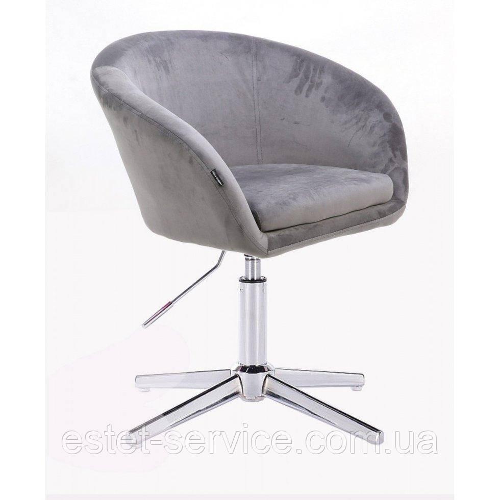 Парикмахерское  кресло HROVE FORM HR8326CROSS стальной велюр