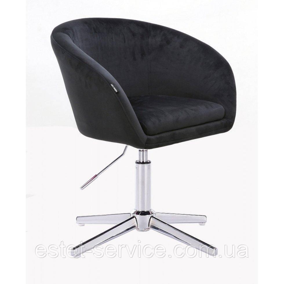 Парикмахерское  кресло HROVE FORM HR8326CROSS черный велюр