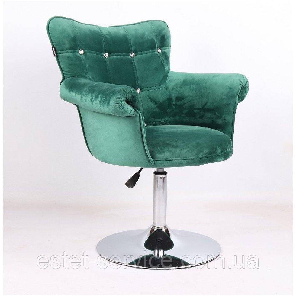 Парикмахерское кресло HR804C бутылочный велюр