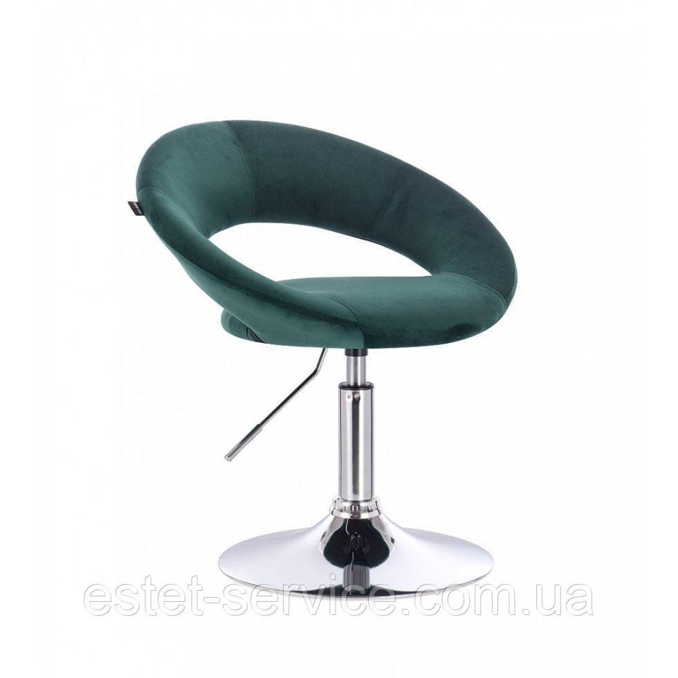 Парикмахерское кресло HR104 на низкой барной основе в ЦВЕТАХ велюра