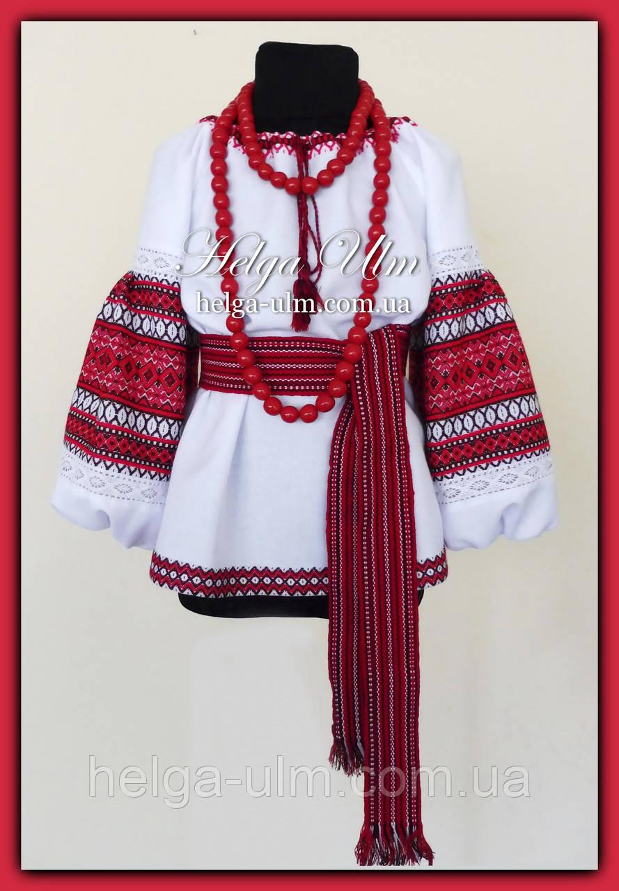 """Блуза-туніка з вишитого полотна """"Грушка"""" - 140р."""