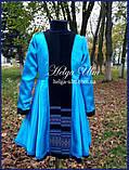 """Пальто для дівчинки в етностилі """"Верховина"""" (чорно блакитне),  98-152 рр. , фото 10"""