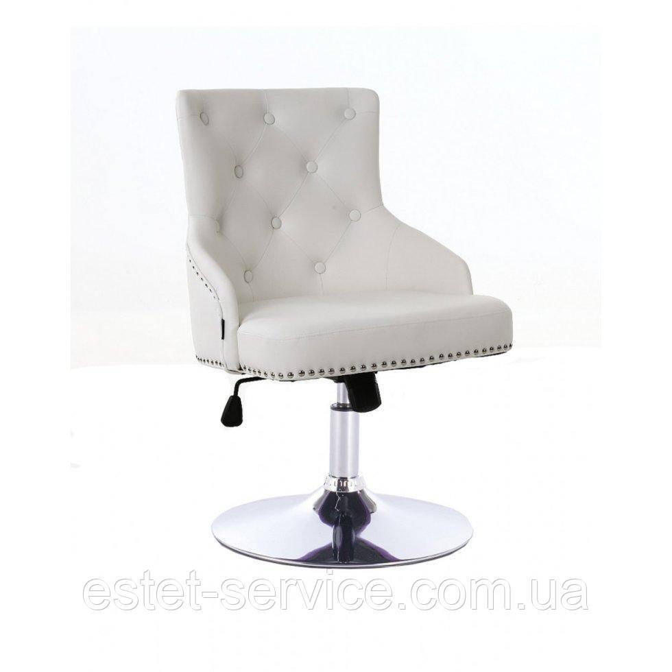 Парикмахерское кресло HROVE FORM HR654N на диске в ЦВЕТАХ кожзам с пуговицами