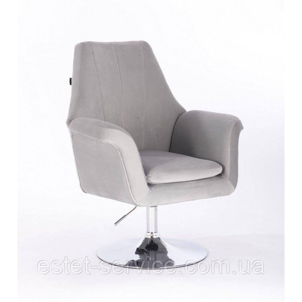 Парикмахерское кресло HROVE FORM HR660 стальной велюр