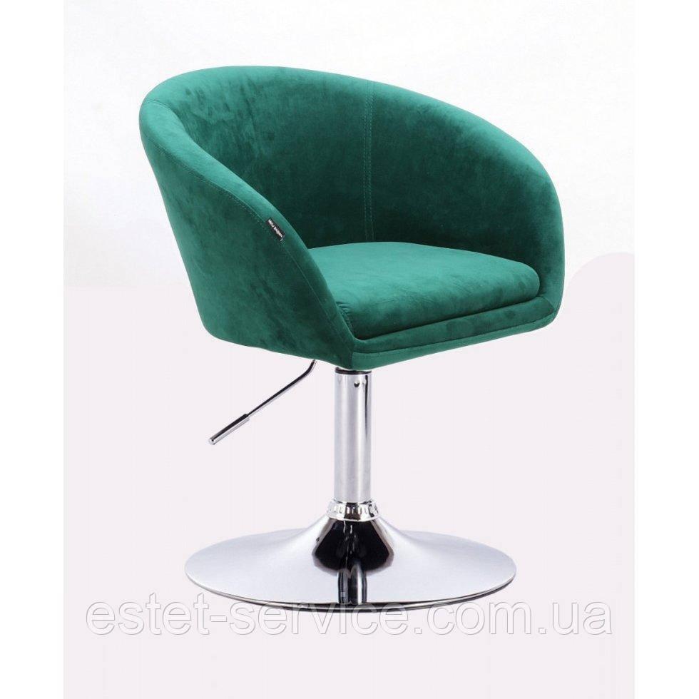 Парикмахерское кресло HROVE FORM HR8326 бутылочный велюр