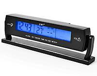 Часы автомобильные с термометром VST 7013V | Часы для авто