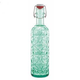 Бутылка Prezioso, с герметичной пробкой, зеленая, 1л