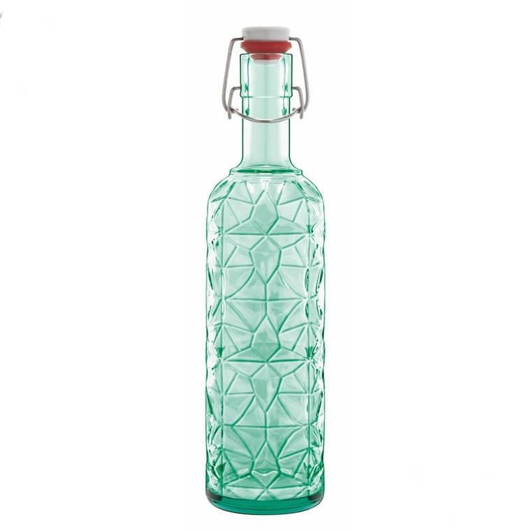 Бутылка Prezioso, с герметичной пробкой, зеленая, 1л, фото 2