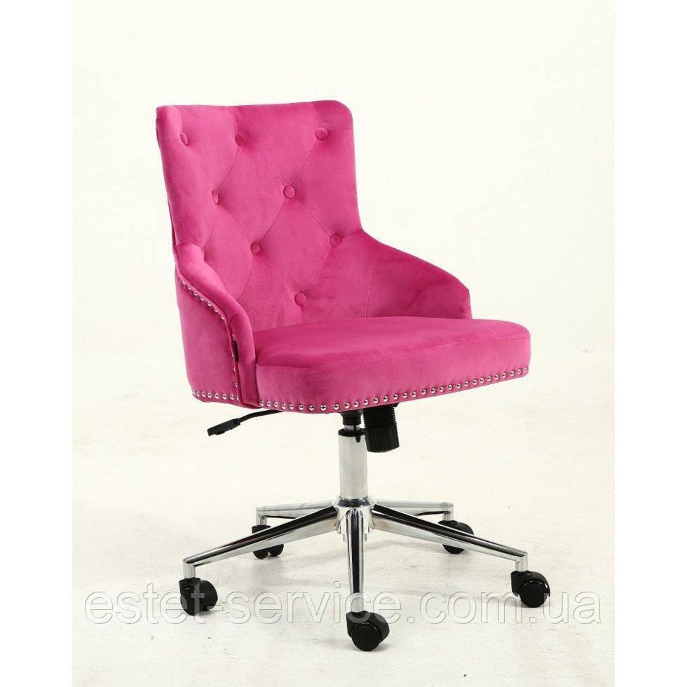 Косметическое кресло HROOVE FORM HR654K малиновый велюр с пуговицами