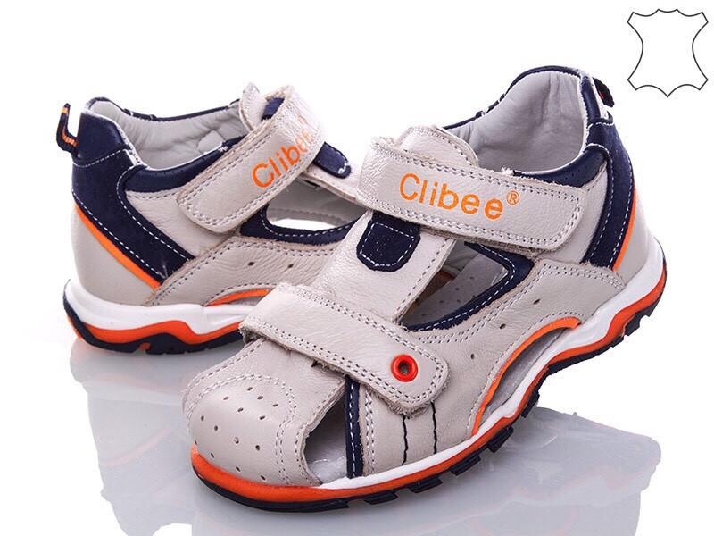 Дитячі шкіряні босоніжки для хлопчика Clibee Польща розміри 26-31