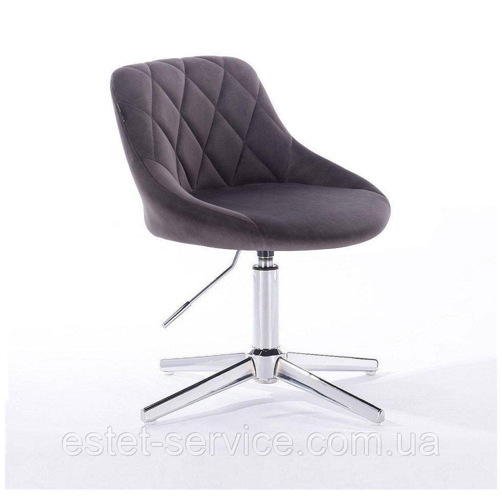 Парикмахерское  кресло HROVE FORM HR1054 CROSS графитовый велюр