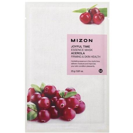 Антивозрастная тканевая маска для лица с ягодами ацеролы Mizon Joyful Time Essence Mask Acerola