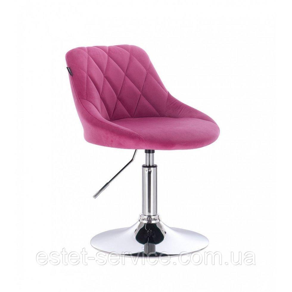 Парикмахерское кресло HROVE FORM HR1054 малиновый велюр