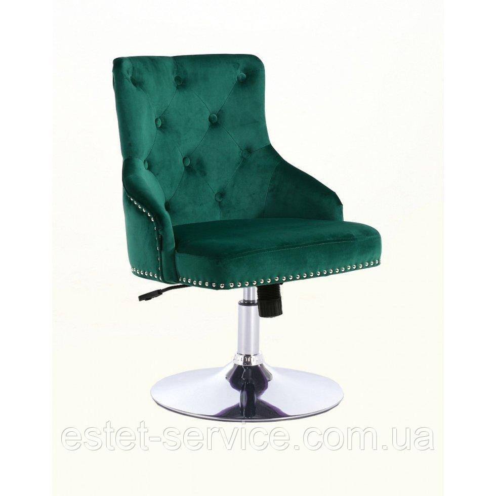 Парикмахерское кресло HROVE FORM HR654N бутылочный велюр с пуговицами