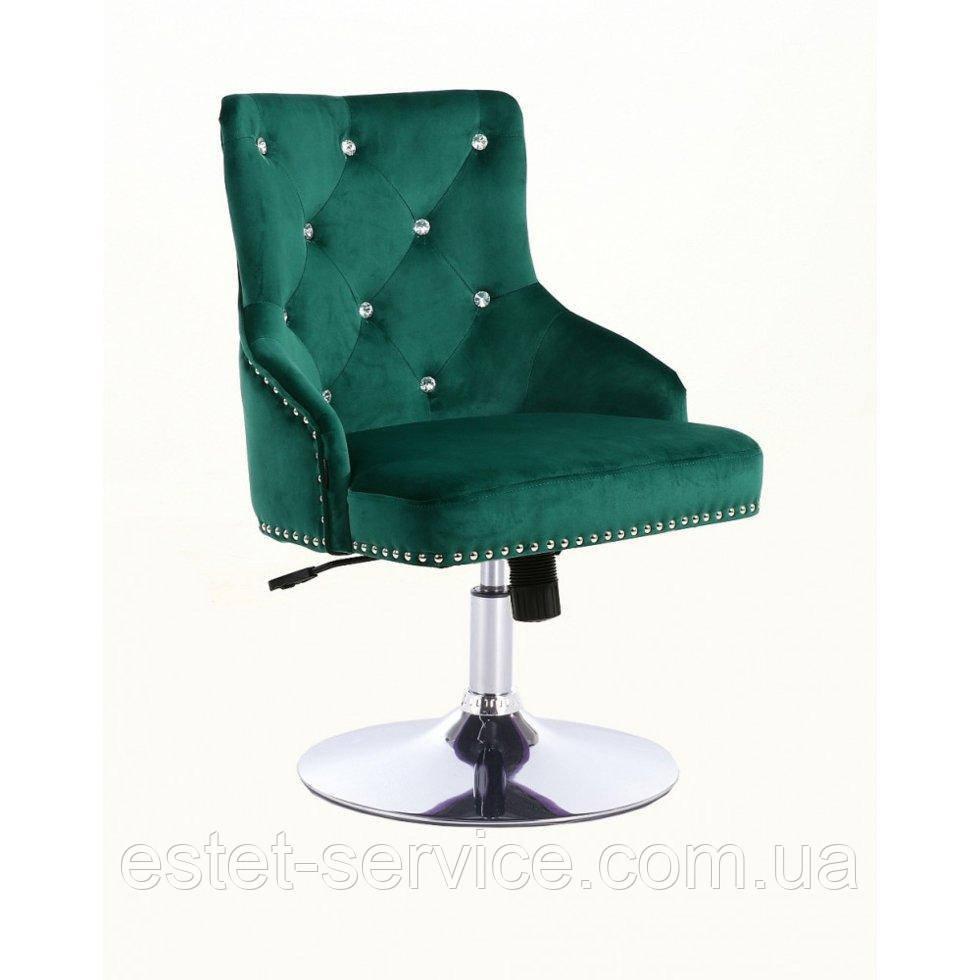 Парикмахерское кресло HROVE FORM HR654N бутылочный велюр со стразами