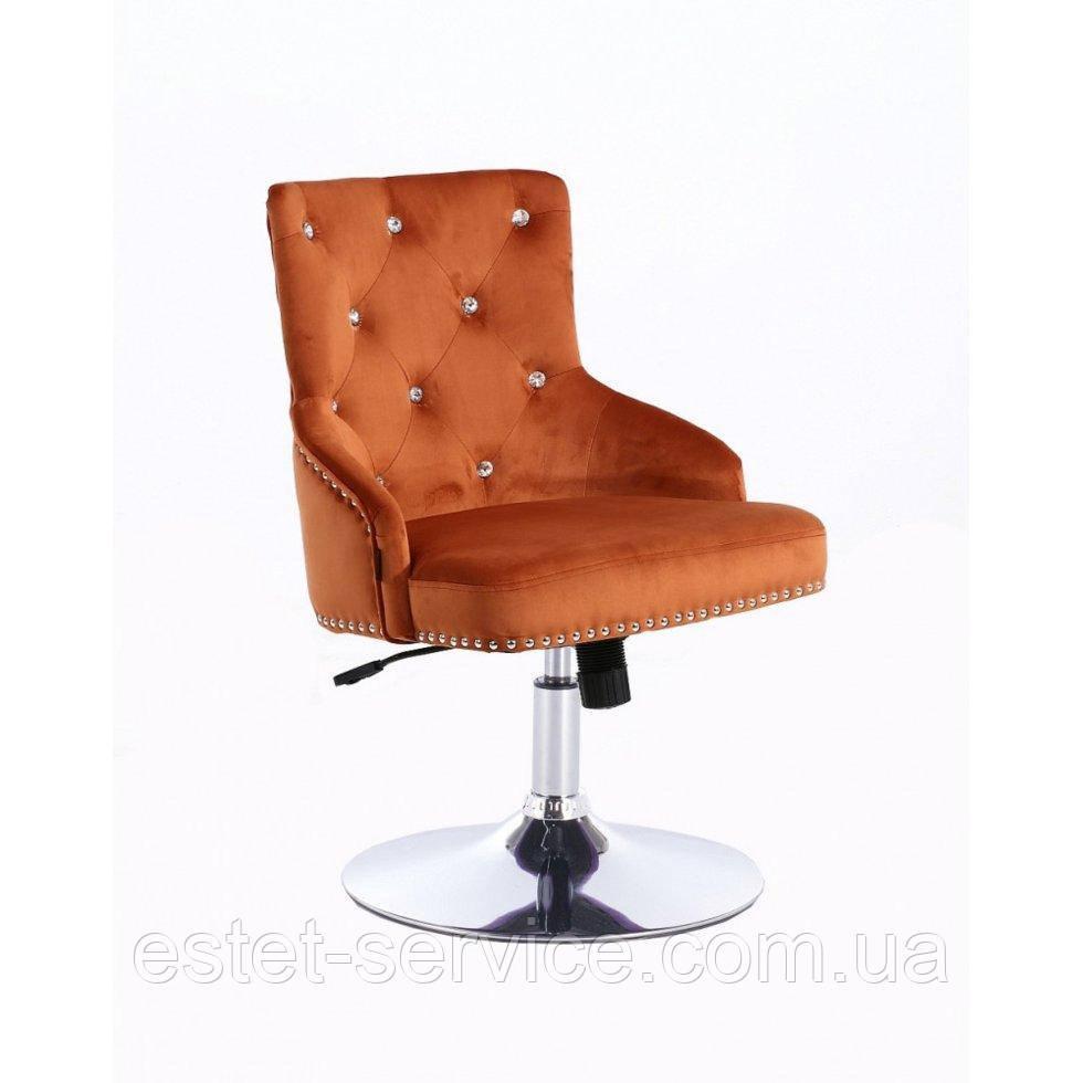 Парикмахерское кресло HROVE FORM HR654N медный велюр со стразами