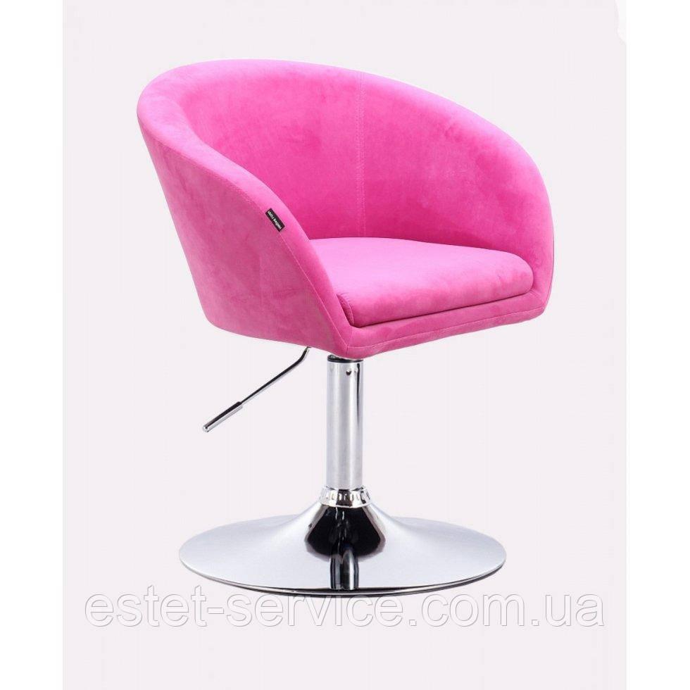 Парикмахерское кресло HROVE FORM HR8326 на низкой барной основе в ЦВЕТАХ велюр