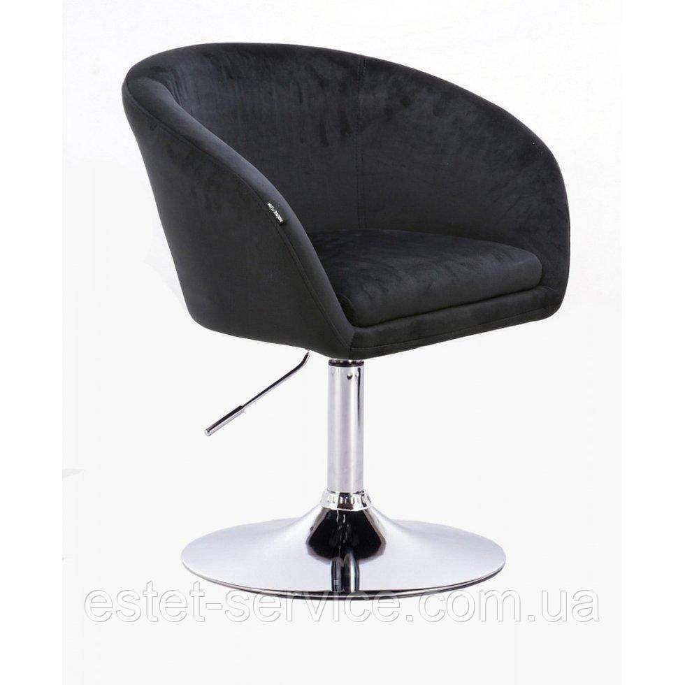Парикмахерское кресло HROVE FORM HR8326 черный велюр