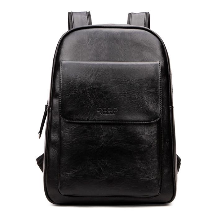 Унисекс Рюкзак Городской для Ноутбука Polo Vicuna (V5510) Искусственная Кожа Черный