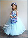 """Святкова пишна сукня """"Вальс квітів"""" - 116 р. На замовлення., фото 3"""