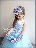 """Святкова пишна сукня """"Вальс квітів"""" - 116 р. На замовлення., фото 9"""