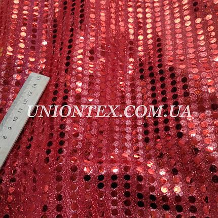 Ткань копейка красная, фото 2