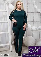 Батальный женский летний спортивный костюм (р. 48, 50, 52, 54) арт. 20869