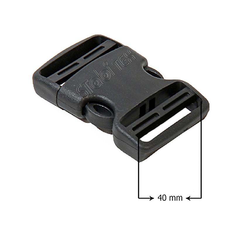 Пряжка фастекс пластик 40мм черная №711