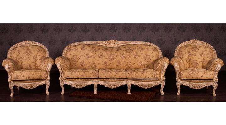 Классический комплект мебели Мила (3+1+1)