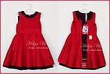 """Тепла сукня-сарафан """"СОЛО"""" (вишня) для дівчинки, 134 р., фото 4"""