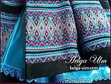 """Пальто для дівчинки в етностилі """"Верховина"""" (чорно блакитне), 134 р., фото 8"""