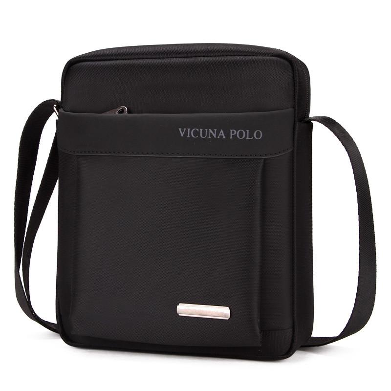 Мужская Сумка Через Плечо Мессенджер Polo Vicuna (V8805) Тканевая Оксфорд Черная