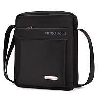 Мужская сумка мессенджер, барсетка через плечо V8805 черная