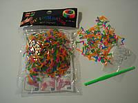 200 штук в виде звезды пятицветных резиночек для плетения Loom Bands
