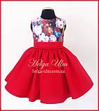 """Святкова сукня для дівчинки """"Горобинка"""", 104 р., фото 3"""