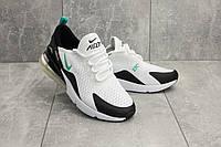 Кроссовки G 5074-6 (Nike AirMax 270) (весна/осень, мужские, текстиль, бело-черные)