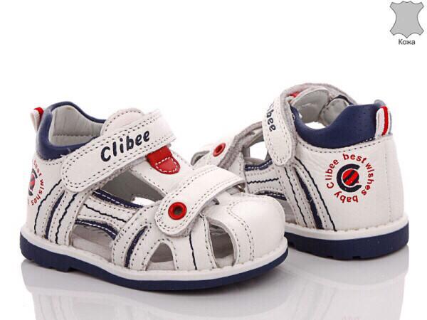 Дитячі шкіряні босоніжки для хлопчика Clibee Польща розміри 19-24