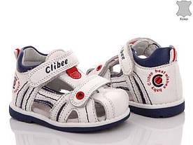 Детские кожаные босоножки для мальчика Clibee Польша размеры 19-24