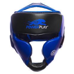 Боксерський шолом тренувальний PowerPlay 3031 Platinum Синьо-Чорний L