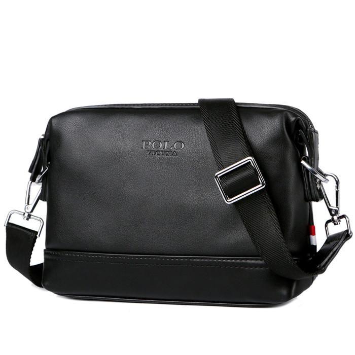 e8fd2c304dc4 Мужская сумка мессенджер, барсетка через плечо V8845 черная - LEVSKI — Твой  интернет-магазин