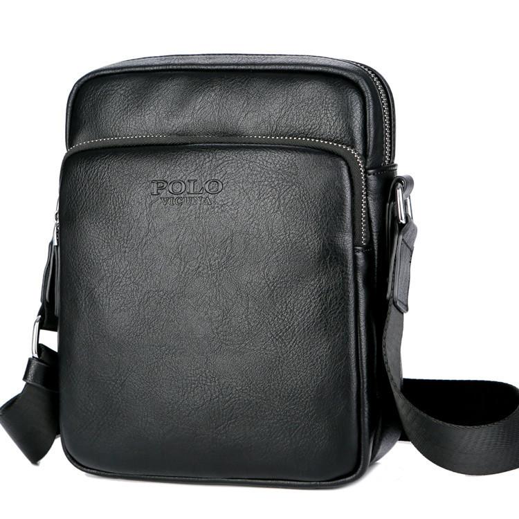 92c52aadcbc5 Купить Мужская сумка мессенджер, барсетка через плечо V8850 черная в Украине