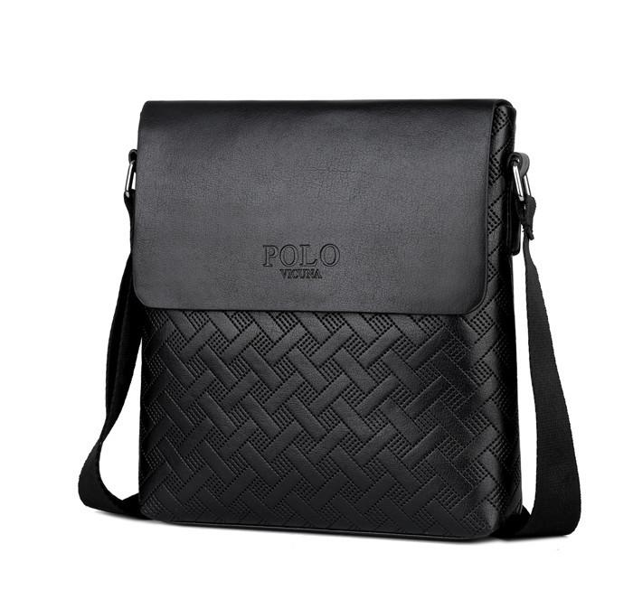 fcef9357b499 Мужская сумка мессенджер, барсетка через плечо V8853 черная - LEVSKI — Твой  интернет-магазин