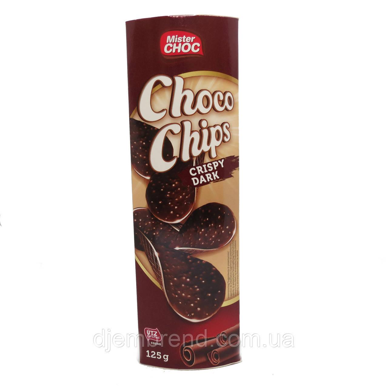 Шоколадные чипсы Mister Dark Crispy Nuts 125 г