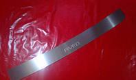 Накладка на задний бампер для Chevrolet Aveo 3, Шевроле Авео 3